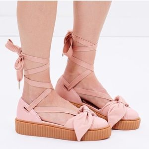 FENTY BY RIHANNA  CREEPERS SANDALS PINK